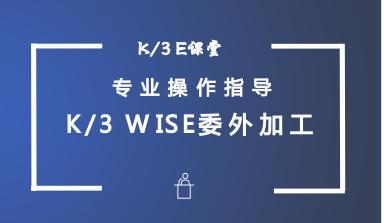 金蝶K/3WISE委外加工管理—委外流程图与系统选项及单据第001课视频教程