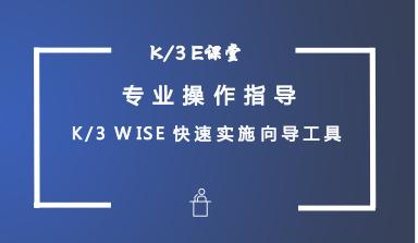 金蝶K/3WISE V140快速实施向导新增功能培训视频教程