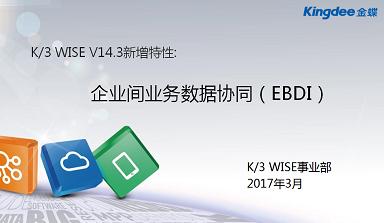 金蝶K/3WISE V143 企业间业务数据协同(EBDI)视频教程