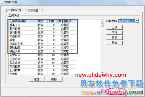 用友U8V10.1ERP怎么设置工资类别工资项目的图文操作教程 用友知识库 第6张图片