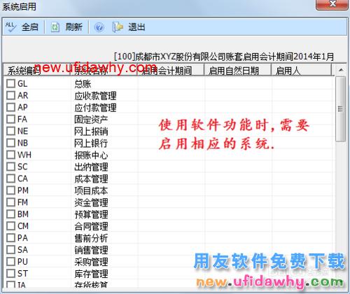 用友U8V10.1ERP怎么启用或关闭总账系统的图文操作教程 用友知识库 第1张图片